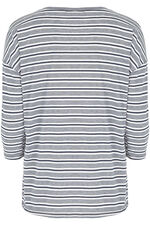 Stripe with Slogan Sweat
