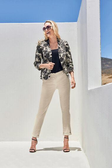Palm Print Linen Jacket