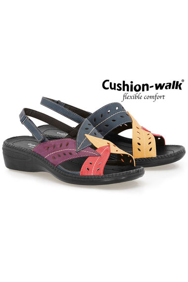 Cushion Walk Sling Back Touch Fasten Sandal