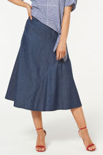 Cotton Chambray Cut & Sew Skirt