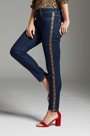 Animal Side Stripe Jean