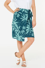 Leaf Print Wrap Skirt