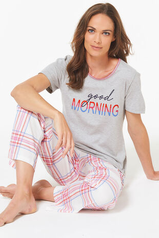 Good Morning Wide Leg Pyjama Set