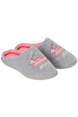 Cat Closed Toe Slipper