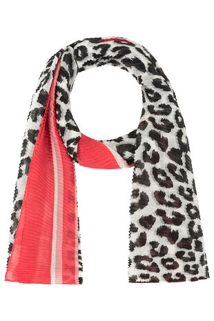Textured Animal Print Scarf