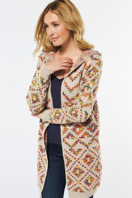 Stella Morgan Geometric Hooded Cardigan