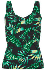 Leaf Print Tankini Top
