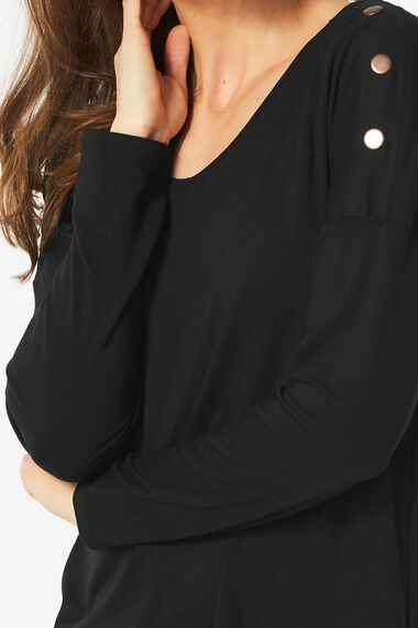 Jersey Tunic with Popper Detail