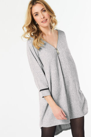 Stella Morgan Oversized Zip Front Tunic