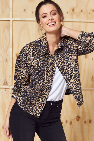 Nine To Six Animal Print Denim Jacket