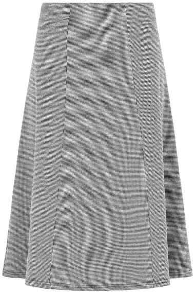 Houndstooth Ponte Panelled Skirt