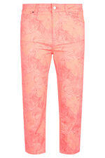 Nine To Six Floral Straight Leg Cropped Jeans