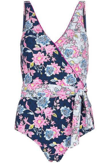 Floral Wrap Swimsuit