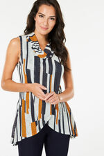 Izabel Sleeveless Long Length Cowl Neck Top