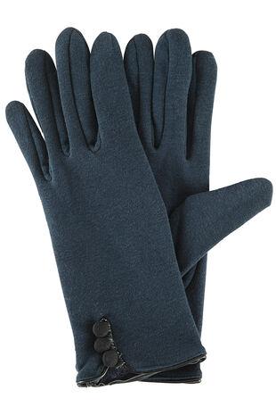 Button Cuff Ponte Glove