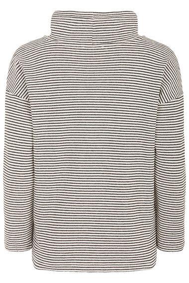 Textured Stripe Cowl Sweat