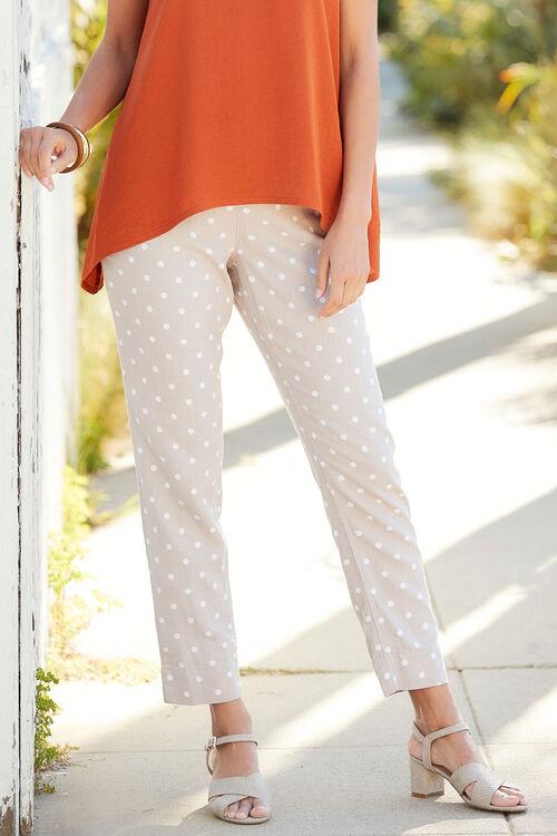 Spot Tapered Linen Blend Trouser