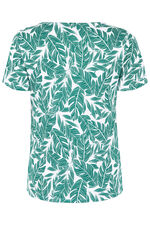 Square Neck Mono Print T-shirt