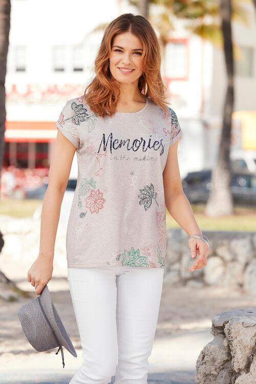 Memories Placement Print T-Shirt