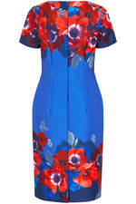 Poppy Border Print Shift Dress
