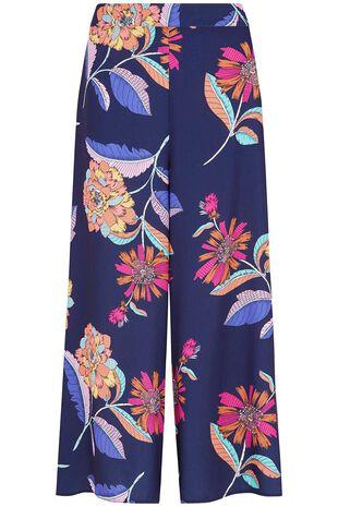 Floral Print Wide Leg Culotte
