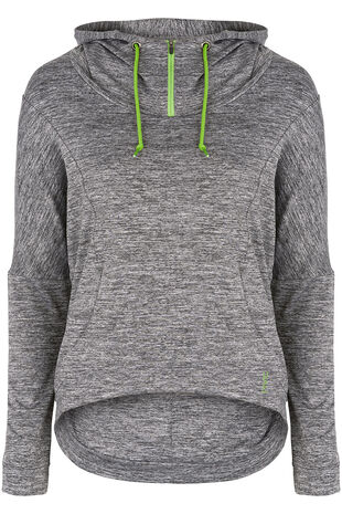 NVC Activewear Loose Fit Cropped Hoodie