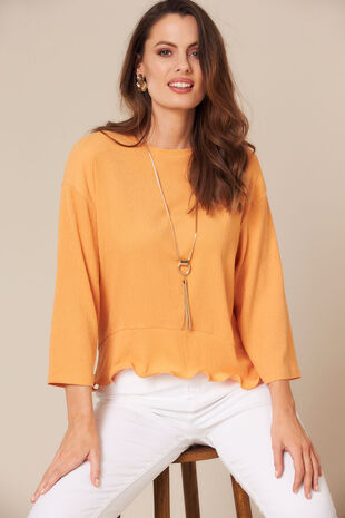 Grace By Eda Ruffle Hem Top