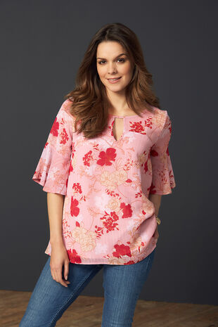 Floral Printed Double Layer Blouse