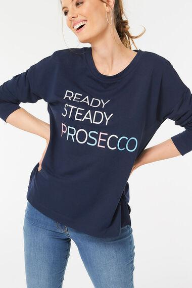 Prosecco Slogan Print Sweat