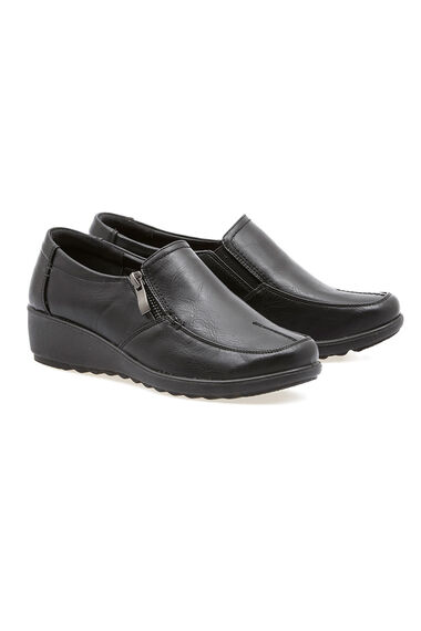 Cushion Walk Slip on Shoe With Zip Detail