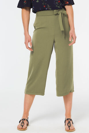 Lightweight Tie Front Cullotte
