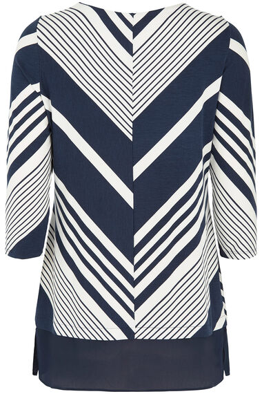 Chevron Tunic with Chiffon Hem