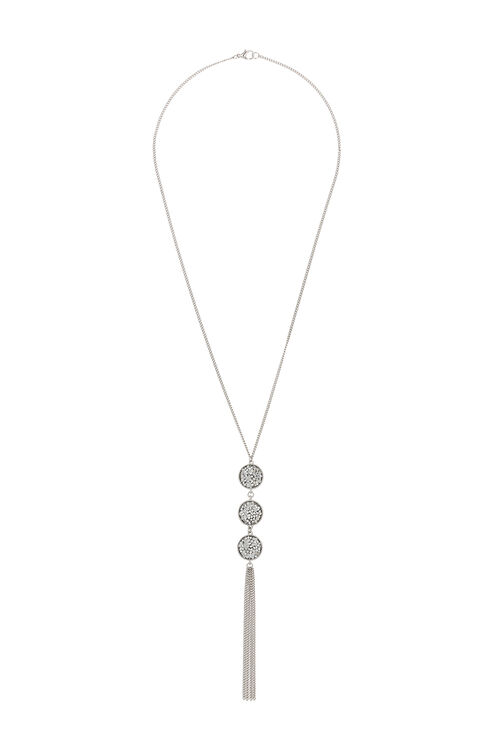 Muse Glitter & Tassel Lariat Necklace