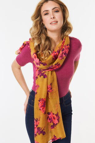 Textured Floral Scarf