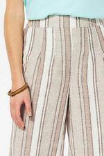 Natural Stripe Linen Blend Culotte
