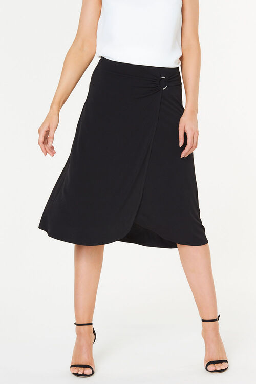 Plain Buckle Skirt