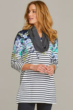 Trailing Floral Tunic with Scarf