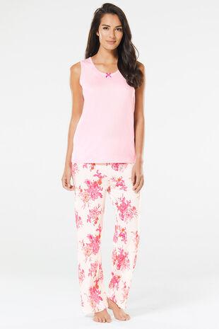 Sleeveless Floral Pyjamas