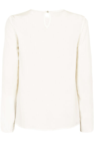 Long Sleeve Blouse With Tie Detail