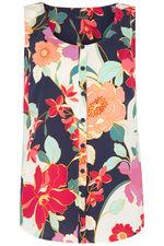 Floral Button Through Vest