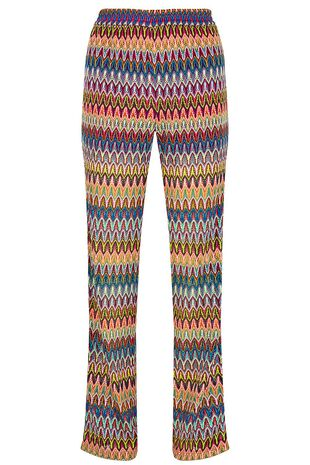 Salvari Crochet Look Mesh Trouser