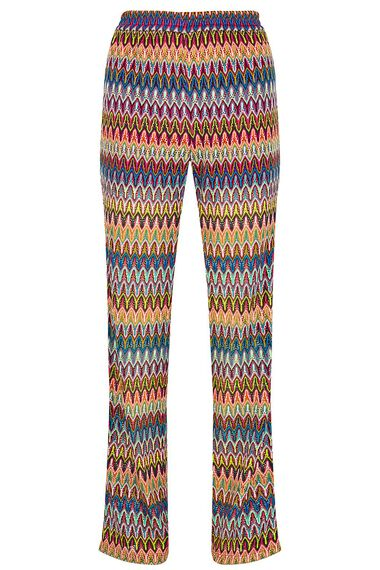 Salvari Crochet Look Mesh Trouser