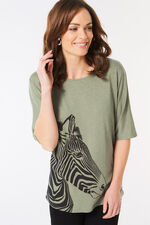 Placement Zebra Print T-Shirt