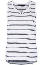 Stripe Notch Neck Vest