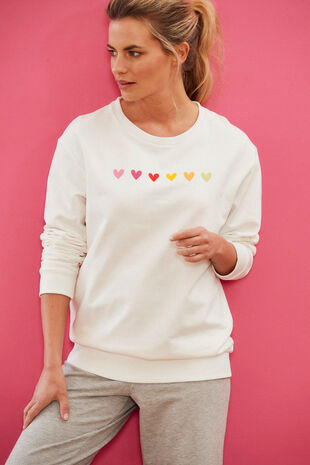 NVC Activewear Heart Embroidery Sweatshirt