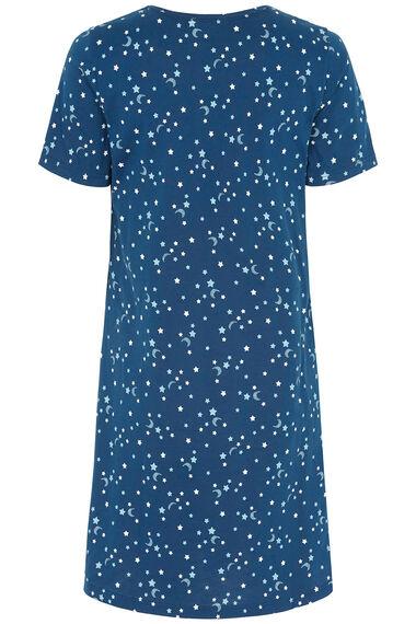 Moon & Stars Print Nightdress