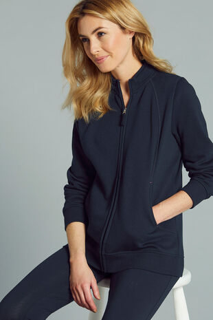 Funnel Neck Zip Through Jacket