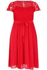 Scarlett & Jo Lace Top Chiffon Dress