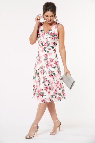 Cherry Blossom Burnout Dress