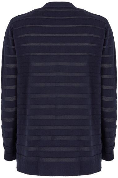 Sheer Stripe Cardigan
